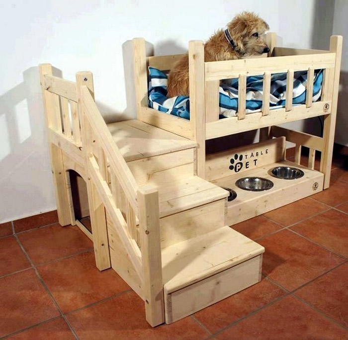 modelos-de-camas-para-cachorro-beliche-bebedouro